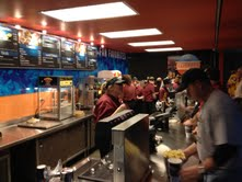 A typical food counter at the Sprint Center