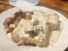 Ah-mazing biscuits & gravy!